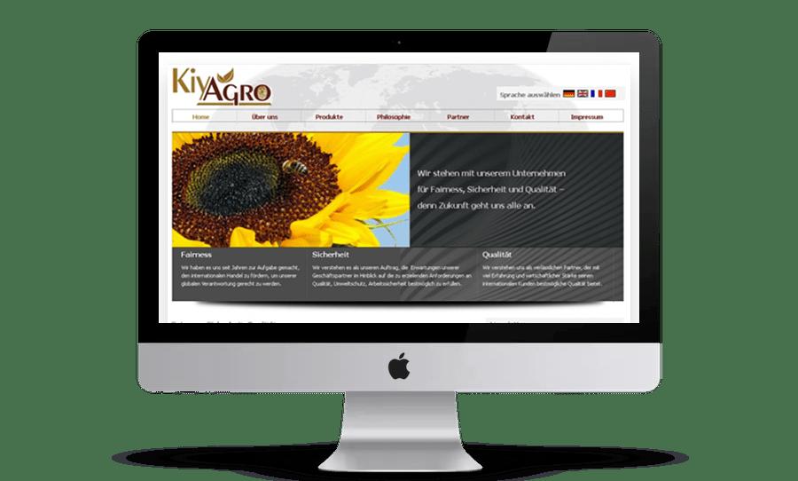 Website Webdesign HidenDesign Kiyagro
