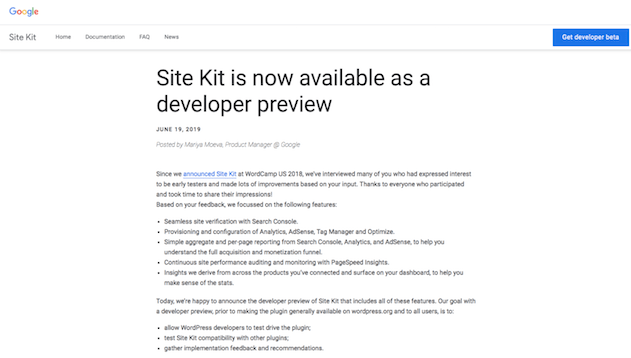 Google Site Kit Plugin downloaden HidenDesign