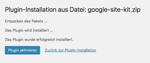 Google Site Kit Plugin fue WordPress installieren und einrichten Anleitung von HidenDesign