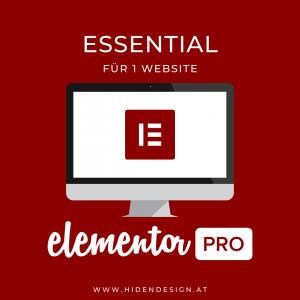 Elementor PRO Essential für eine Website