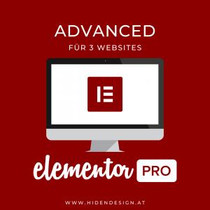 Elementor PRO Advanced für drei Websites